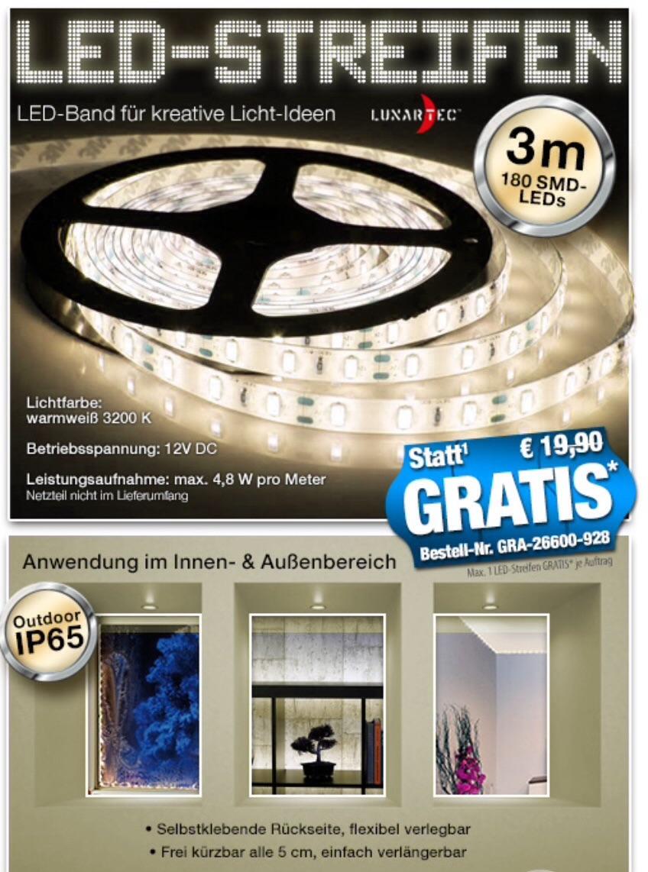 gratis bei pearl: 300 cm länger led strip wassergeschützt 0,-€ statt