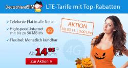 Halloween Aktion – LTE Tarif ab 14,95 €uro @ deutschlandsim, nur bis 03.11.2014