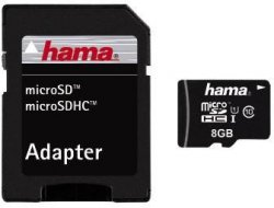 HAMA microSDHC 8 GB Classe 10 Speicherkarte inkl. Adapter für 5,99 € inkl. Versand (10,98 € Idealo) @Saturn