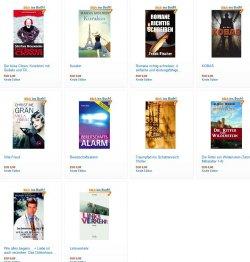 Hier die neuen gratis eBooks: zB der Reiseroman Linksverkehr –  5 Sterne – (Print-)Buchpreis 15,00€