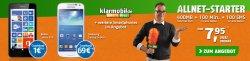 Klarmobil Allnet Starter 100 Min. 100 SMS, 400 MB + Samsung Galaxy S4 Mini für 7,95 € mtl.