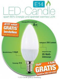 LED-Candle 3 Watt (E14), GRATIS statt 9,90 €uro @ pearl (nur Versandkosten)