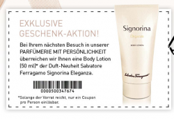 [ LOKAL ] Gratis Body Lotion 50ml Signorina Eleganza von Salvatore Ferragamo @  parfuemerien-mit-persoenlichkeit