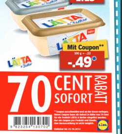 [LOKAL] Lätta & Butter Klassich oder gesalzen (225g)  für 0,49€ statt 1,19€ @ Lidl
