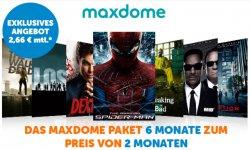 Maxdome Angebot: 6 Monate für monatlich 2,66€ @blog.notebooksbilliger.de