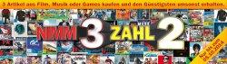 NIMM 3 ZAHL 2 Aktion für Filme, Musik oder Games @Media Markt
