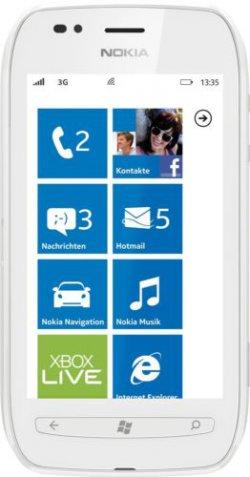 Nokia Lumia 710 in weiss, 3,7 Zoll, GPS, Windows 7,5 für 49,99 € inkl. Versand [ idealo 69,80 € ] @ Ebay