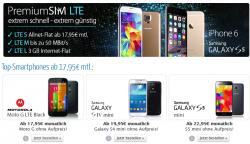 o2 Netz: Allnetflat+ SMS Flat + bis zu 3 GB Internet Flat ab 17,95€ mtl. mit Smartphone @eteleon