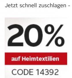 @otto.de: 20% Gutscheincode auf Haus- und Heimtextilien gültig bis 13.10.14