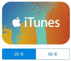 PayPal: iTunes Codes 50€ für 42,50€ / 25€ für 21,25€  somit 15% günstiger