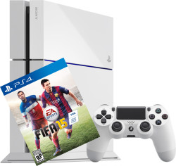 """Sony Playstation 4 500GB in weiss mit Spiel """"Fifa 15″ für nur 399€ bei MediaMarkt.de"""