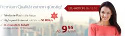 PremiumSIM: Allnet-Flats mit 1GB LTE für 12,45€ mlt. und weitere Angebote.