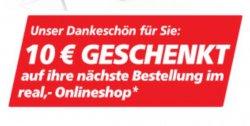 @real: jetzt 10€ Gutschein für Newsletteranmeldung