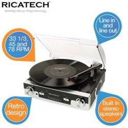Retro Plattenspieler / Musik-Center Ricatech RTT77 65,90€ statt 90,16€ inkl.Versand @ibood-extra