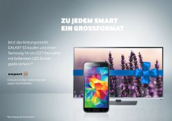 Samsung GALAXY S5 kaufen und einen Samsung 54 cm (22) Fernseher gratis dazu @Expert
