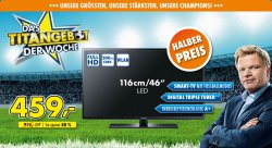Samsung UE46H6273 116 cm (46 Zoll) LED Smart TV für 459 € (529 € Idealo) @euronics.de