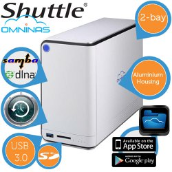 Shuttle Omninas KD20 Dual Bay NAS für 39,95 € zzgl. 5,95 € Versand (72,83 € Idealo) @iBOOD Extra