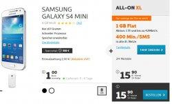 simyo SUPERAKTION: Samsung GALAXY S4 mini mit ALL-ON XL für nur 15,90 € pro Monat und einmalig 1€