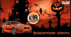 @sixt Halloween: jetzt günstig BMW 1er mieten für 89€ pro Wochenende.