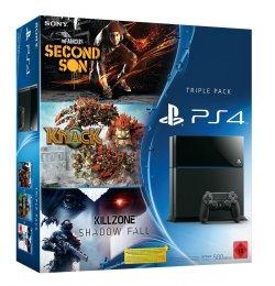 Sony PlayStation 4 + inFAMOUS: Second Son + Knack + Killzone: Shadow Fall für 399 € (502,99 € Idealo) @Amazon
