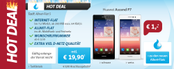 Sparhandy Hot Deal: Allnet-Flat + Internet-Flat + Huawei Ascend P7 für 19,90 € mtl.