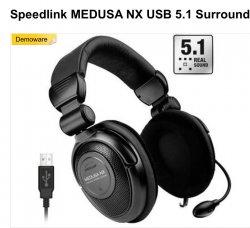 Speedlink MEDUSA NX USB 5.1 Surround Headset Demoware 19,99€ (Idealo: ab 43€)