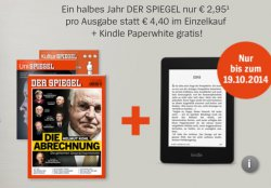 Spiegel Abo mit Studenten-Rabatt: 26x a 2,95€ statt 4,40€ + gratis Kindl Paperwhrite (Idealo: ab 100€) dazu!