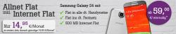 Tele 2 Allnet Flat mit Samsung Galaxy S4 oder S5 mini rechnerisch für 17,45€ mtl. @talkthisway