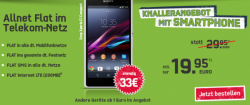 Telekom Special Allnet-Flat mit z.b. Smartphone Sony Xperia Z Ultra weiss für 19,95 € mtl.