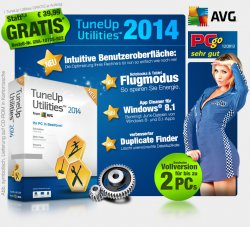 Tune Up Utilities ( AVG) 2014 GRATIS, nur Versandkosten @ pearl