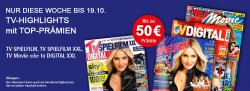 TV Zeitschriften Abos im Angebot z.B. TV SPIELFILM XXL Digital Jahres Abo für 8,50 € @leserservice.de