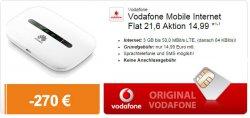 Vodafone Aktion für 3GB bis 50,0 MBit/s LTE für eff. 3,74€ im Monat + Internet-Stick oder E5330 HSPA/UMTS Router gratis @logitel.de
