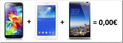Vodafone XL Allnet Flat ,bis zu 3GB Internetflat inkl. z.B. gratis Samsung S5 + zwei gratis Tabs für 39,99 € mtl. @ Logitel