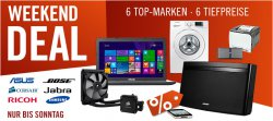 Weekend Deals @Cyberport – 6 Top Angebote alle unter Idealo BestPreis!, z.B. Asus X555 Win8 Notebook für 499€ [Idealo 563€]