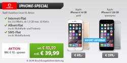 Weekend Deals @Sparhandy z.B. iPhone6 mit nur 69 € Zuzahlung für mit  LTE Internet-Flat für 39,99 € mtl.
