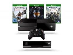 Xbox One + Kinect + 4 Spiele für 499€ @amazon.de