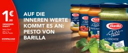 1 € GENIESSER – COUPON beim Kauf von 1 x Barilla Pesto (Download)