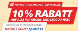 10% auf LEGO und Playmobil bei Real