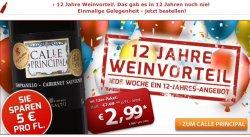 12 Jahre Weinvorteil = wöchentliches Angebot sichern + 12 € Gutscheincode zusätzlich