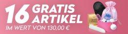 16 GRATIS Erotik-Artikel im Wert von 130 € (UVP)  @Eis.de