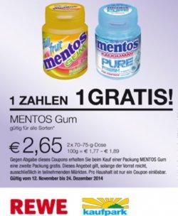 [Lokal] 2für1: Bei Kauf einer Packung Mentos eine weitere gratis dazu mit Gutschein zum Ausdrucken