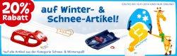 20% auf Winter & Schnee-Artikel, online bei Toys´R´Us