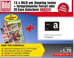 3 Monate / 13 Ausgaben Bild am Sonntag für rechnerisch 2,10€ @lesershop24.de