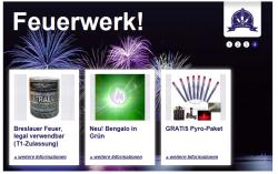 3 x Gutscheincodes für Pyroweb.de ( Feuerwerks Produkte ab 18 Jahren )