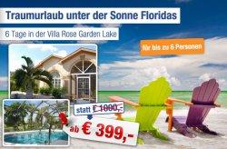 6 Tage für 6 Personen in einer Luxus-Pool-Villa in Florida  für 399 € statt 1000 € @ab-in-den-urlaub.de