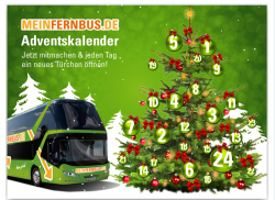 Adventskalender @ Facebook.com/Meinfernbus