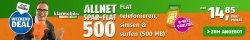Allnet-Flat + Internet-Flat + SMS-Flat im Telekom Netz für 14,85 € mtl. @ Modeo