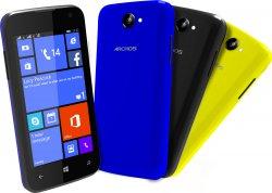 ARCHOS 40 Cesium Windows 8.1 Dual SIM Smartphone inkl. Wechselcover schwarz, gelb,blau für 79 € (90,99 € Idealo) @Saturn