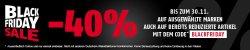 Black Friday bei Sportcheck 40% Rabatt auf 6 Marken