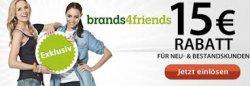Brands4Friends 15€ Gutschein mit 45€ MBW (auch für Bestandskunden)